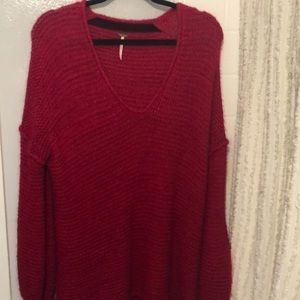 Long, baggy, light and cozy Free People sweater